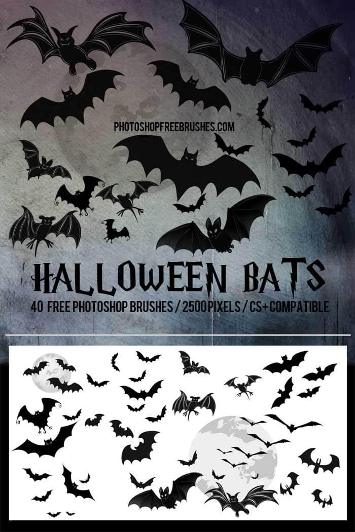 21种万圣节卡通蝙蝠Photoshop笔刷素材下载 蝙蝠笔刷 万圣节笔刷  %e5%8d%a1%e9%80%9a%e7%ac%94%e5%88%b7