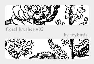 手绘可爱花纹图案Photoshop印染花纹笔刷 手绘花纹笔刷 印花笔刷  flowers brushes