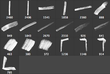 19种毛笔刷子涂痕Photoshop素材下载 毛刷笔刷 刷子笔刷  %e6%b2%b9%e6%bc%86%e7%ac%94%e5%88%b7