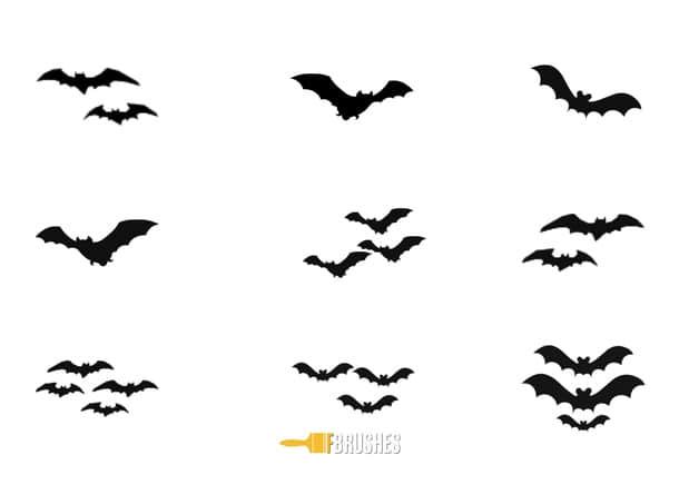 可爱的小蝙蝠、圣诞节蝙蝠Photoshop笔刷 蝙蝠笔刷 圣诞节笔刷  %e5%8d%a1%e9%80%9a%e7%ac%94%e5%88%b7