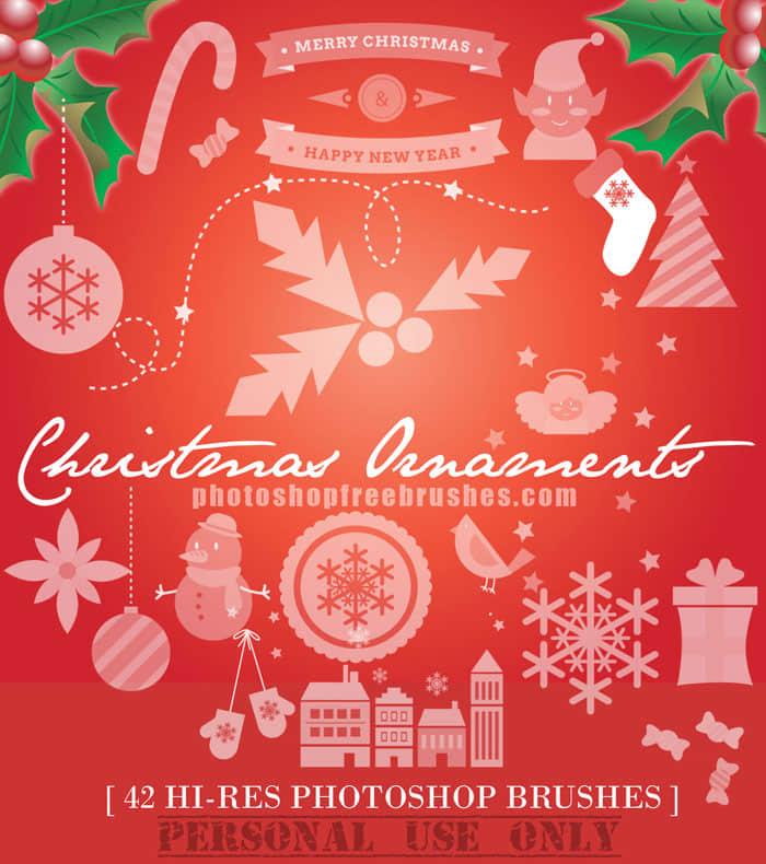 42种高清圣诞节装扮元素Photoshop笔刷下载 美图笔刷 圣诞节比赛  %e5%8d%a1%e9%80%9a%e7%ac%94%e5%88%b7