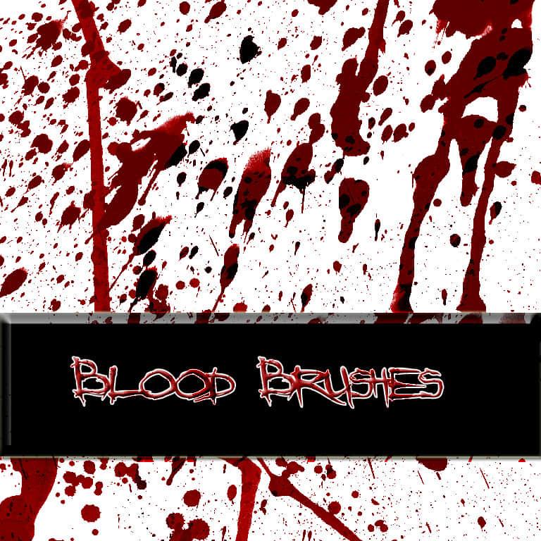 恐怖的血液喷溅、滴溅效果PS笔刷素材 血笔刷 血液笔刷 留学笔刷 滴血笔刷 喷血笔刷  characters brushes
