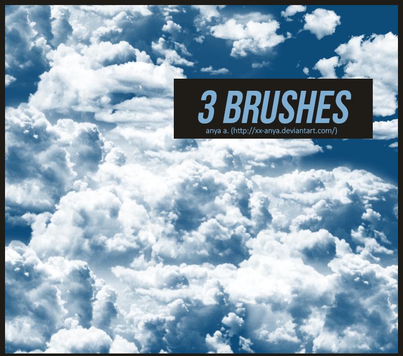 天空云朵、云层效果Photoshop笔刷 云层笔刷  cloud brushes