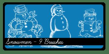 卡通圣诞节雪人Photoshop笔刷下载 雪人笔刷 圣诞节笔刷  %e5%8d%a1%e9%80%9a%e7%ac%94%e5%88%b7