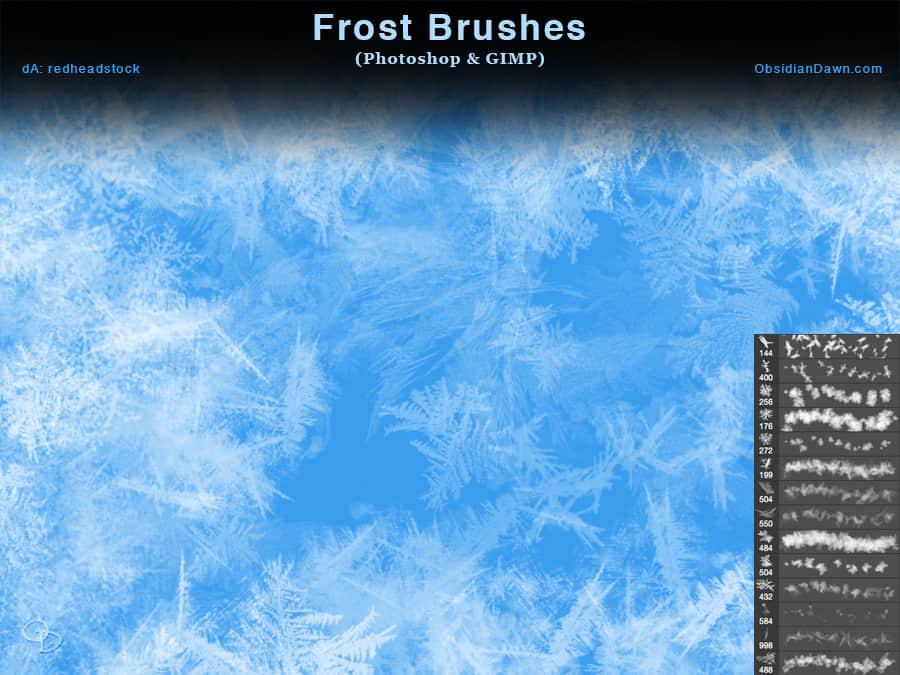 圣诞节冰晶装饰、过年窗花纹理Photoshop霜冻笔刷 霜冻笔刷 窗花笔刷 冰晶笔刷  adornment brushes