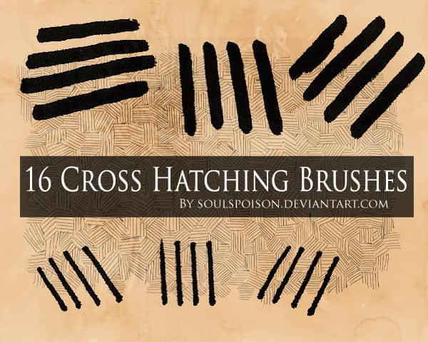 16种交叉式竹编纹理Photoshop背景笔刷 竹编纹理笔刷  background brushes