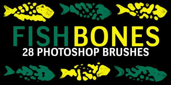 古代鱼文字、鱼图案、鱼纹饰PS笔刷下载 鱼纹饰笔刷 鱼图案笔刷  adornment brushes