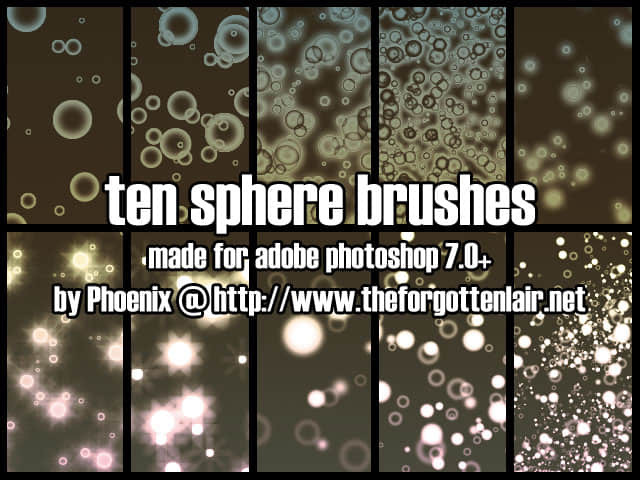 光影泡泡、气泡、透明小球PS笔刷下载 泡泡笔刷 水泡笔刷 气泡笔刷 光球笔刷  water brushes light brushes