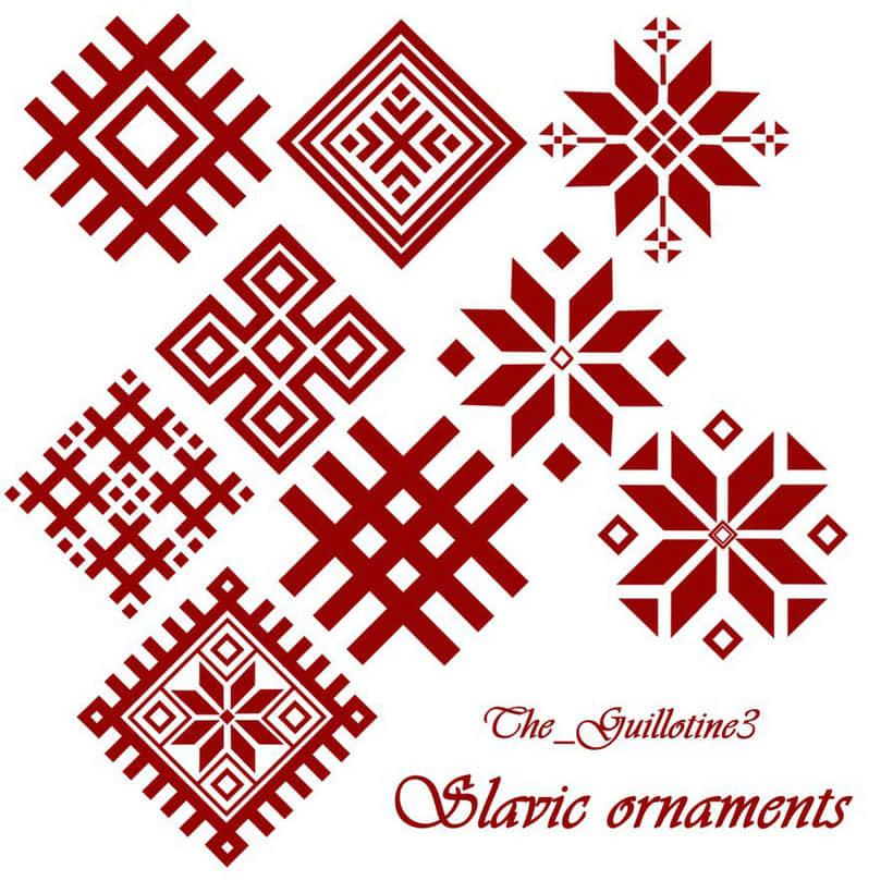 圣诞节雪花图案花纹PS笔刷下载 花纹笔刷 艺术花纹笔刷 民族花纹笔刷 圣诞节笔刷  flowers brushes