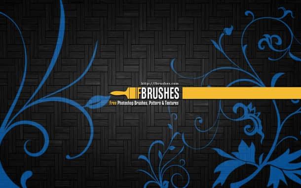 漂亮的葡萄藤蔓植物花纹图案Photoshop笔刷下载 精美花纹笔刷 植物花纹笔刷 印花笔刷  flowers brushes
