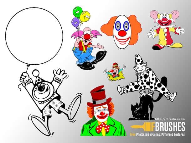 搞笑小丑造型Photoshop笔刷下载 小丑笔刷  %e5%8d%a1%e9%80%9a%e7%ac%94%e5%88%b7