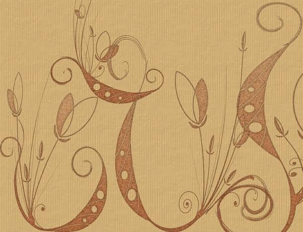 抽线艺术植物花纹图案Photoshop笔刷下载 抽象花纹笔刷  flowers brushes