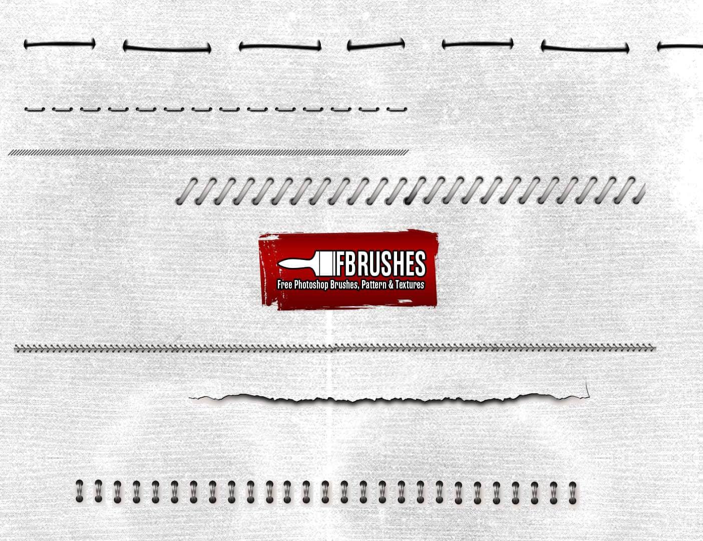 笔记本、记事簿装订线、装订环PS笔刷下载 装订线笔刷  other brushes
