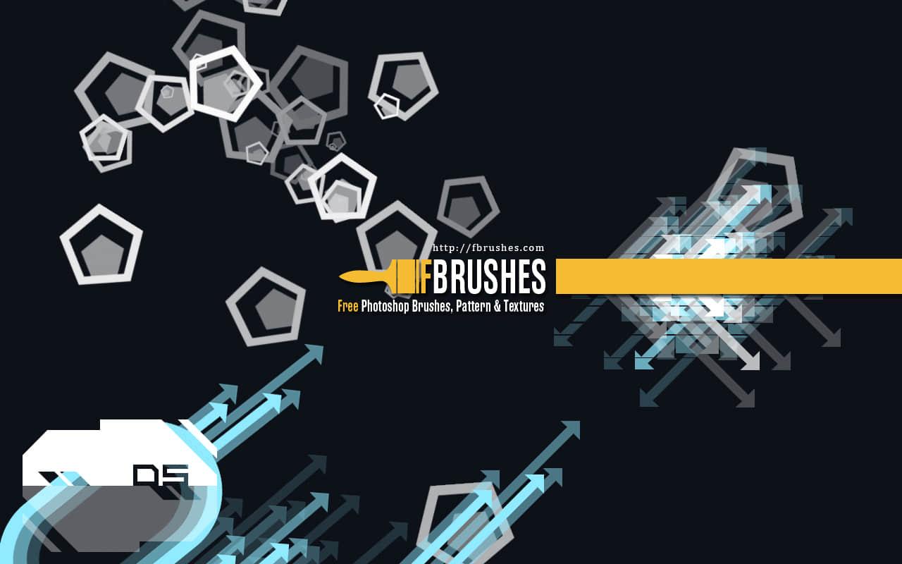 漂亮时尚的背景菱形气泡、箭头标识装饰PS笔刷下载 时尚背景装饰笔刷 时尚背景元素笔刷  adornment brushes background brushes