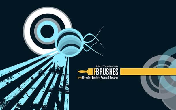 同心圆、射线等元素Photoshop背景装饰笔刷 射线笔刷 同心圆笔刷  adornment brushes background brushes