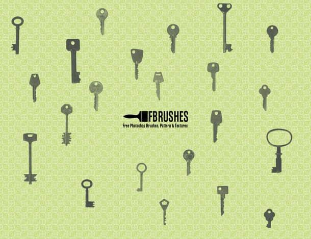 真实的钥匙PS笔刷下载 钥匙笔刷  other brushes