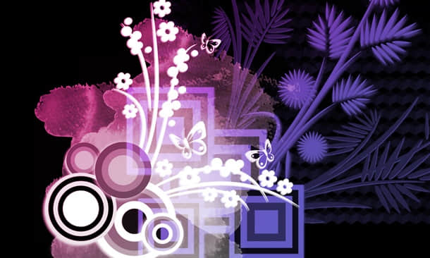 日本花卉图案PS笔刷下载 花卉笔刷 日本花纹笔刷  flowers brushes