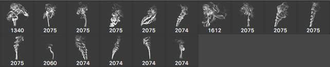 烟尘、烟雾、燃烧火焰PS笔刷下载 烟雾笔刷 烟笔刷  flame brushes
