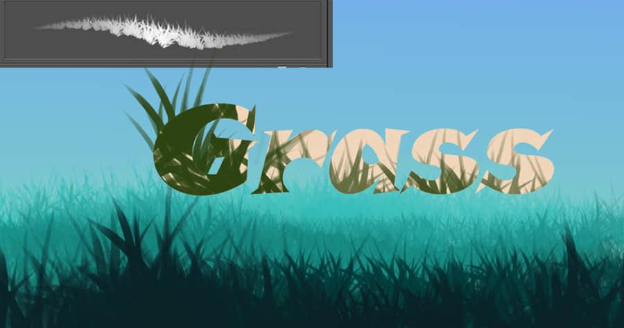 浓密的青草、草地CG画笔PS笔刷素材下载 青草笔刷 植物CG笔刷 CG笔刷  plants brushes