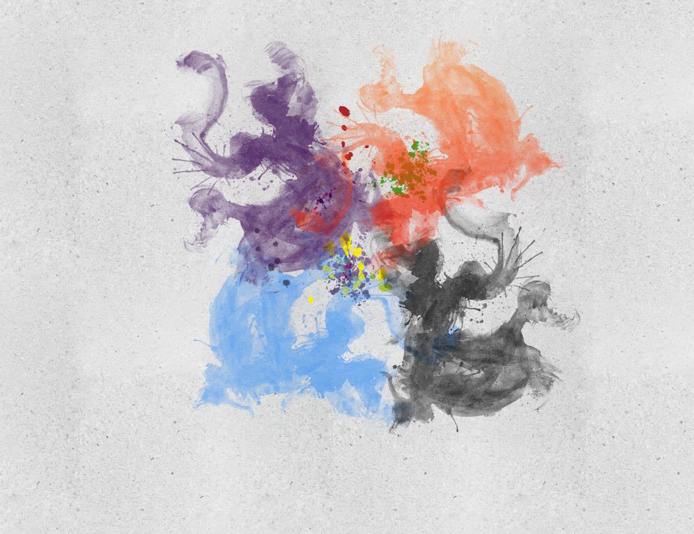 水墨飞溅、墨彩痕迹Photoshop笔刷下载 油墨笔刷 水墨笔刷 墨彩笔刷  photoshop brush