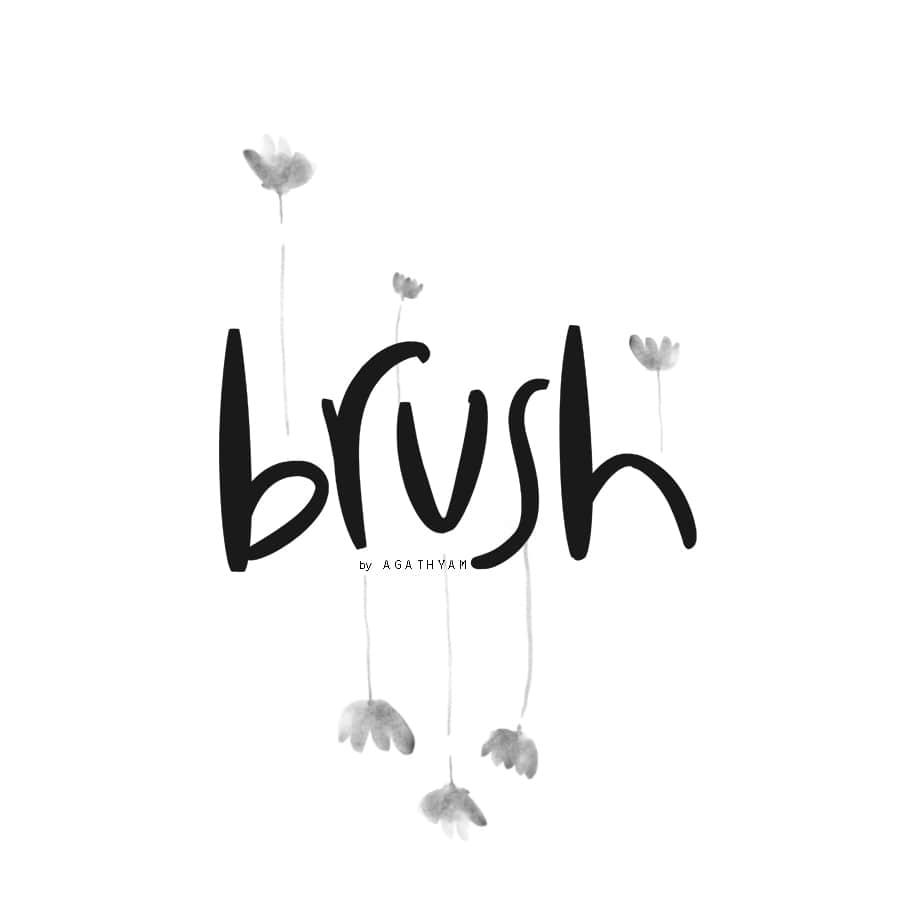 4种睡莲中国水墨画PS笔刷下载 睡莲笔刷 水墨画笔刷  flowers brushes