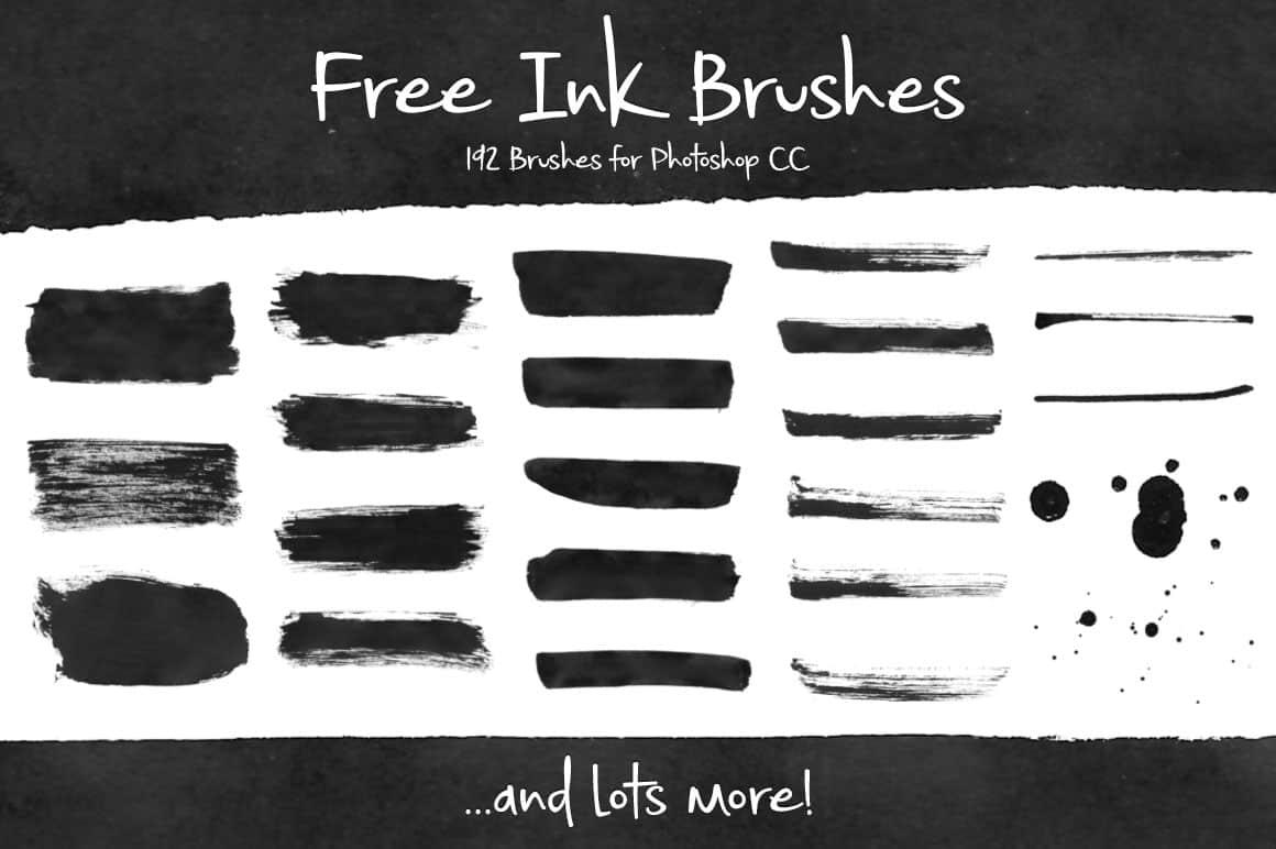 192种免费的油墨、墨水、水墨效果涂痕Photoshop笔刷 油墨笔刷 水墨笔刷 墨水笔刷  photoshop brush