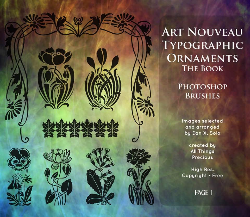 漂亮的欧式植物花纹艺术纹理PS笔刷下载 欧式花纹笔刷 植物花纹笔刷 手绘印花笔刷  flowers brushes