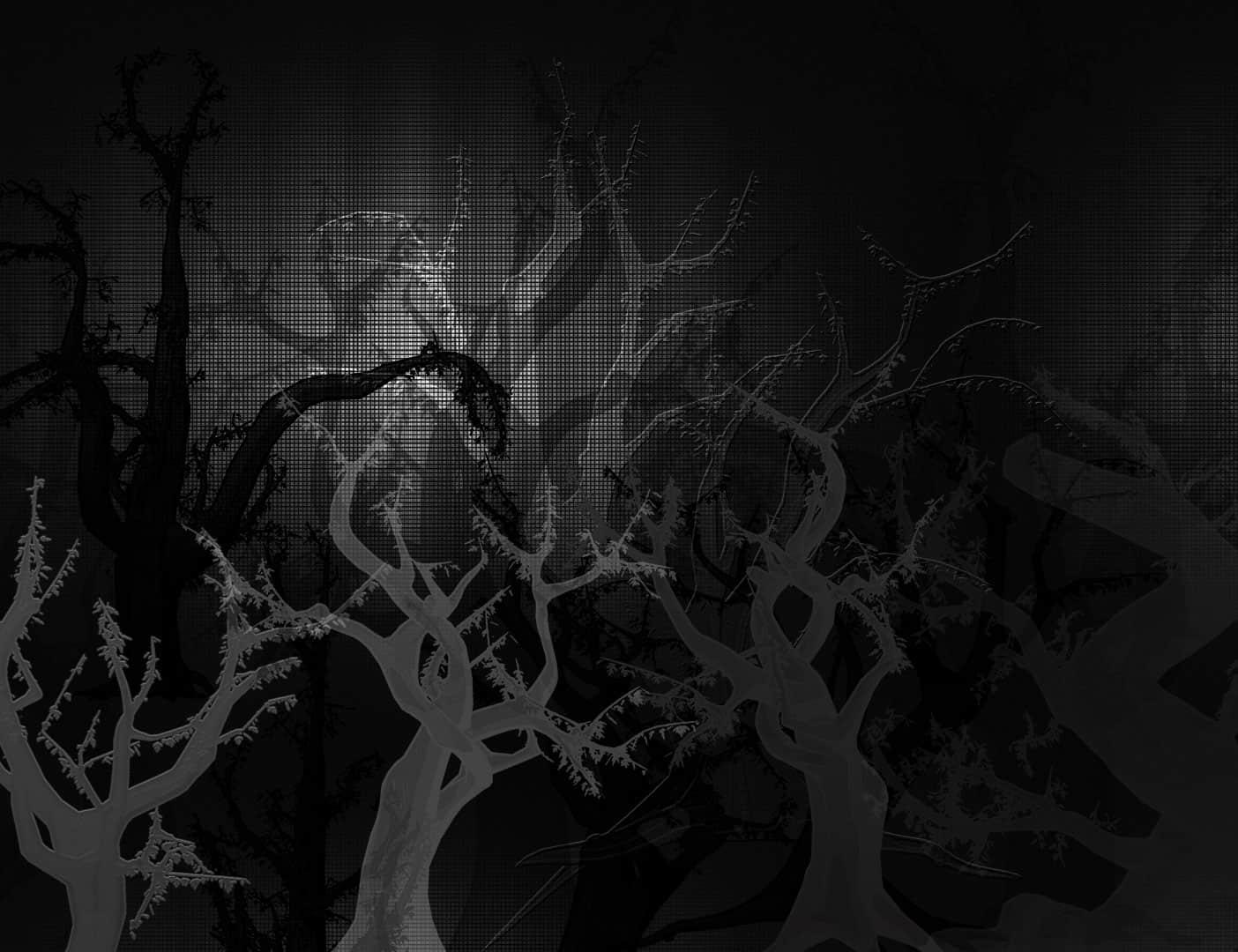 恐怖森林、大树、鬼树Photoshop笔刷下载 鬼树笔刷 森林笔刷 大树笔刷  plants brushes