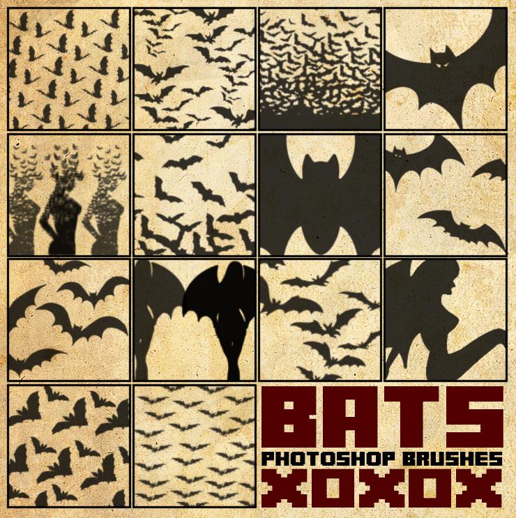 蝙蝠、蝙蝠群PS笔刷下载 蝙蝠笔刷 万圣节笔刷  adornment brushes %e5%8d%a1%e9%80%9a%e7%ac%94%e5%88%b7