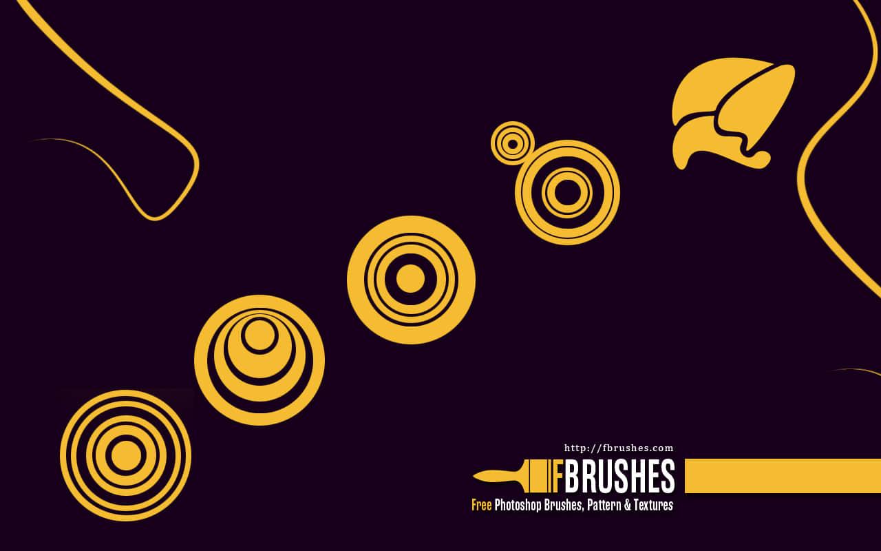 抽象形状图形同心圆PS笔刷下载 同心圆笔刷  adornment brushes