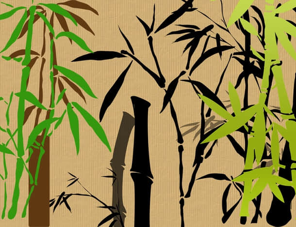中国竹子效果PS笔刷下载 竹子笔刷  plants brushes