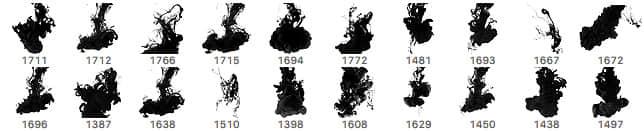 20种油漆水墨、水中散墨效果PS笔刷下载 水墨笔刷  %e6%b2%b9%e6%bc%86%e7%ac%94%e5%88%b7