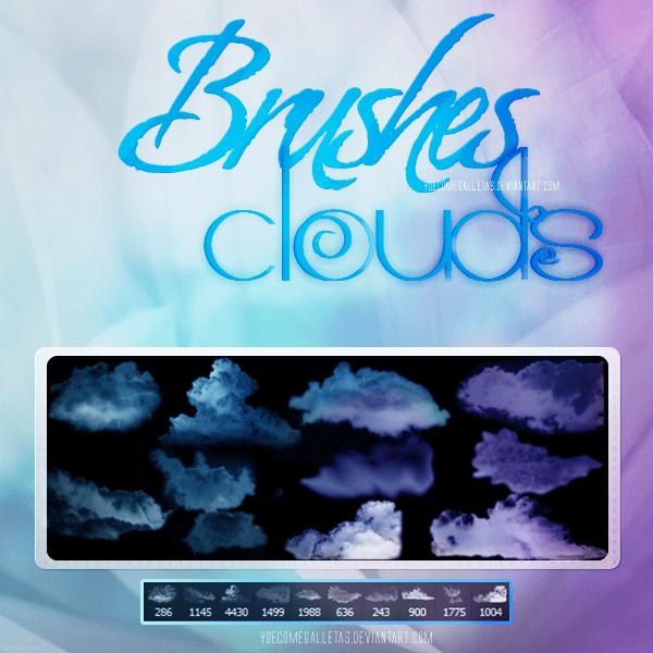高清云层、云朵PS云笔刷下载 云彩笔刷 云层笔刷  cloud brushes