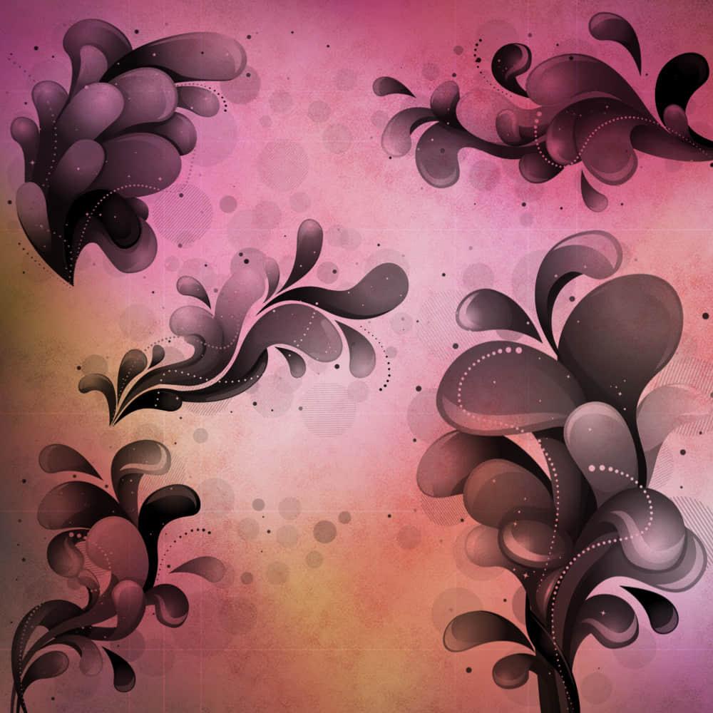 5种时尚潮流、活泼涂鸦元素PS笔刷下载 潮流元素笔刷 时尚笔刷  adornment brushes flowers brushes