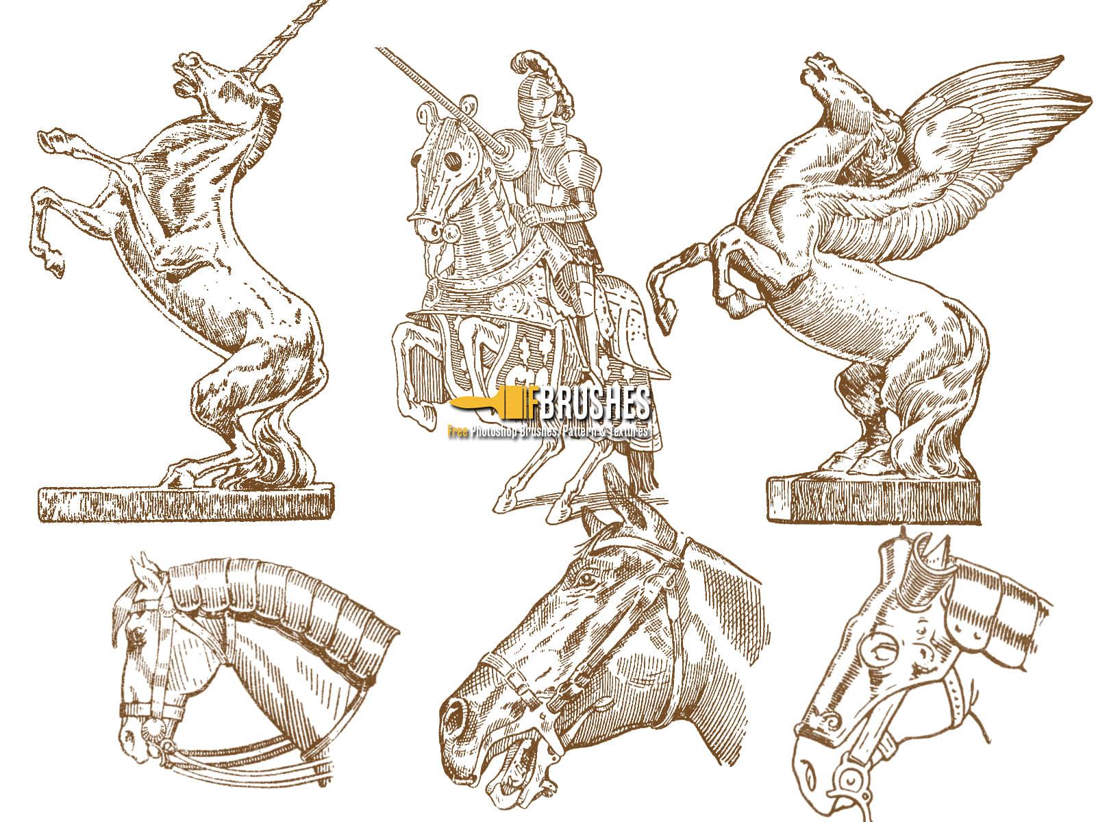 horse-drawings