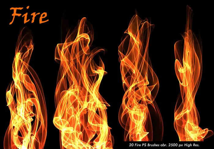 20种免费的火焰、火苗、火光特效Photoshop笔刷下载 火苗笔刷 火光笔刷  flame brushes