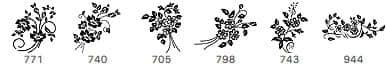漂亮高贵的艺术植物花纹Photoshop印花笔刷下载 贵族花纹笔刷 植物花纹笔刷 印花笔刷  flowers brushes