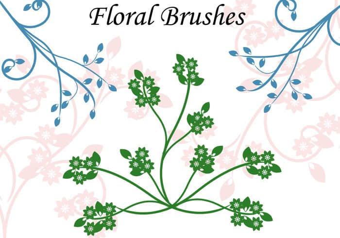 艺术植物花纹图案Photoshop印花笔刷下载 植物花纹笔刷 印花笔刷  flowers brushes