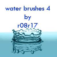 水滴、水效果PS笔刷素材下载 水滴笔刷 水效果笔刷  water brushes