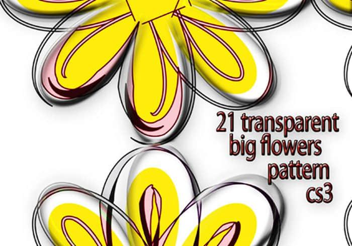 21半透明大花纹、花朵图案PS背景填充素材.pat下载 PS填充素材  flowers brushes ps%e5%a1%ab%e5%85%85%e5%9b%be%e6%a1%88%e7%b4%a0%e6%9d%90