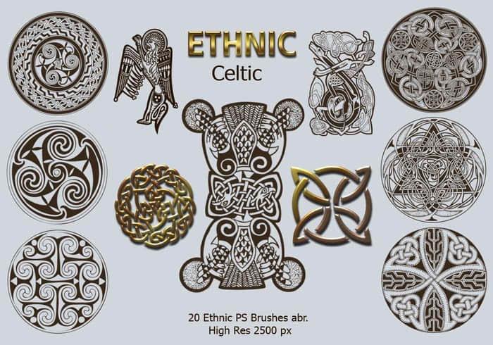 20种民族特色文化图腾、花纹图案PS笔刷下载 民族花纹笔刷 图腾笔刷  adornment brushes