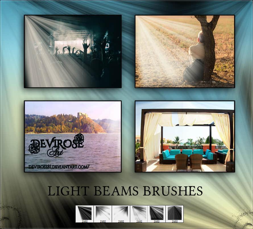 丁达尔效应光影特效、射线、照射Photoshop光线笔刷 射线笔刷 光照笔刷 丁达尔光线笔刷  light brushes