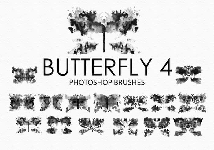 15个高品质免费的水彩蝴蝶Photoshop艺术蝴蝶素材下载 蝴蝶笔刷  adornment brushes insects brushes