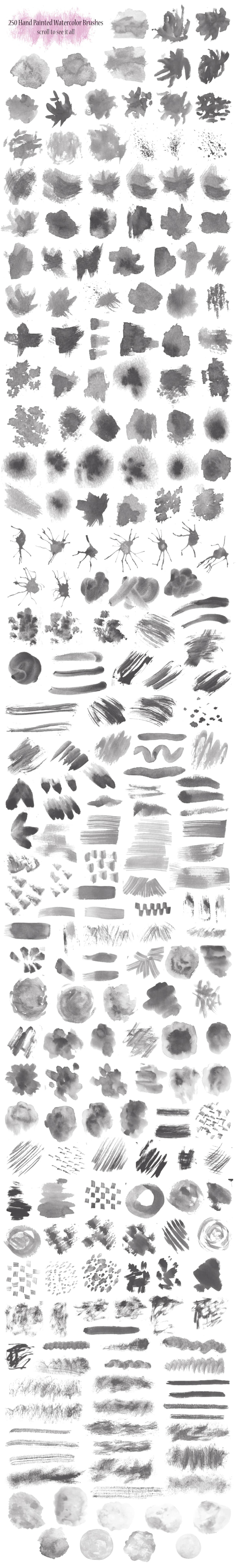 250种超大水彩、颜料、水墨画痕PS笔刷素材文件下载 水墨笔刷 水分笔刷  photoshop brush %e6%b2%b9%e6%bc%86%e7%ac%94%e5%88%b7