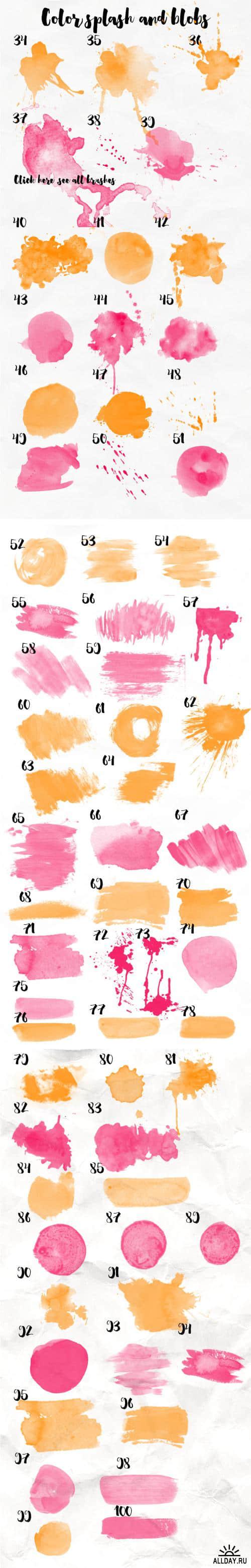 100种高品质手绘画笔笔触Photoshop画笔笔刷 笔触笔刷 油刷笔刷 手绘笔刷 刷子笔刷  photoshop brush