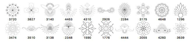 手绘精美花纹图案Photoshop笔刷印花素材 手绘花纹笔刷  flowers brushes