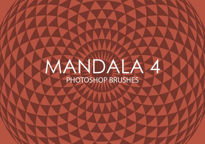 简洁复古式旋转对称背景图案PS笔刷下载Mandala系列 旋转对称图案笔刷 复古花纹笔刷  flowers brushes background brushes