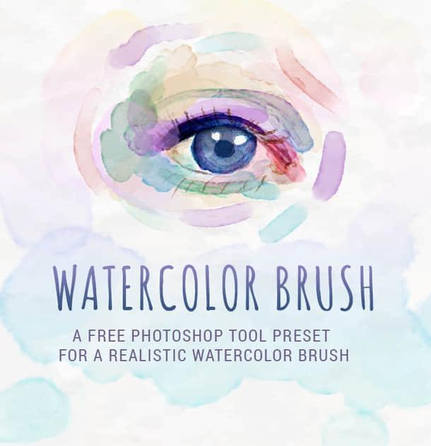 水彩画笔工具预设.tpl 素材下载 水彩笔刷 水墨笔刷 PS预设素材  photoshop brush