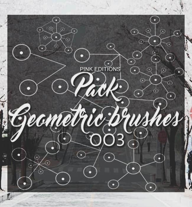 随意圆点连线背景Photoshop笔刷下载 非主流照片笔刷 美图笔刷 照片美化笔刷 可爱笔刷  adornment brushes background brushes