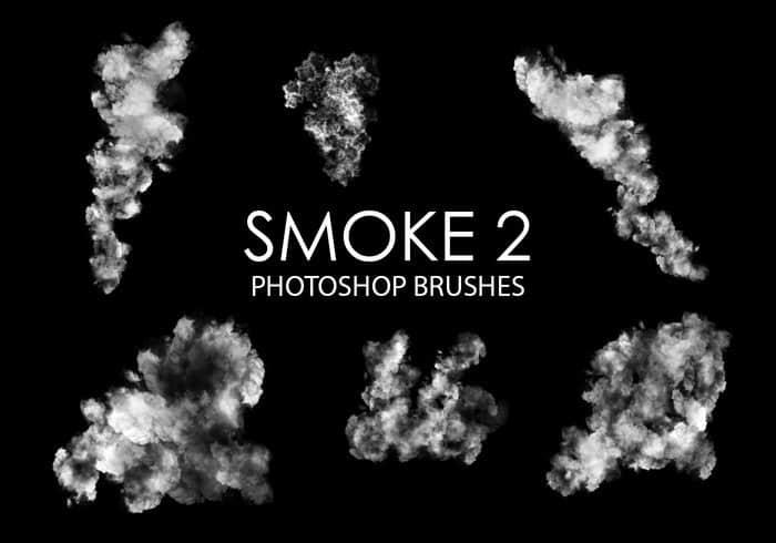 包含15个高质量的烟雾效果Photoshop浓烟笔刷 爆燃笔刷 爆炸笔刷 烟雾笔刷 浓烟笔刷  flame brushes
